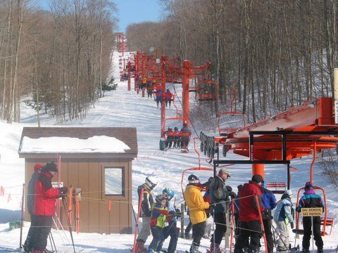 Orange Chairlift at Nub's Nob South